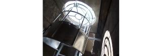escalera seguridad hierro galvanziado