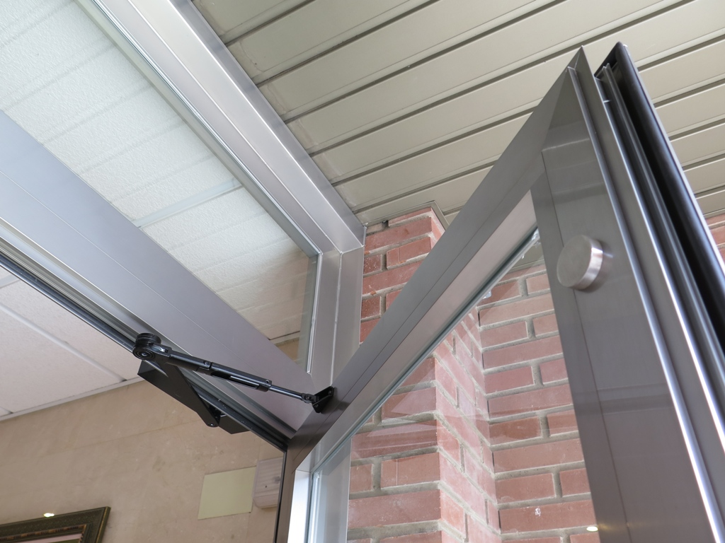 Puerta patio serie inox talleres usieto - Muelle para puertas ...