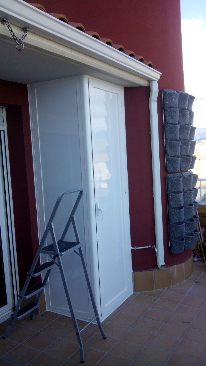 Armario de aluminio blanco talleres usieto - Armario para terraza ...