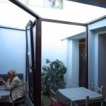 techo de aluminio y cristal