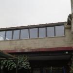 ventanales de aluminio en terraza