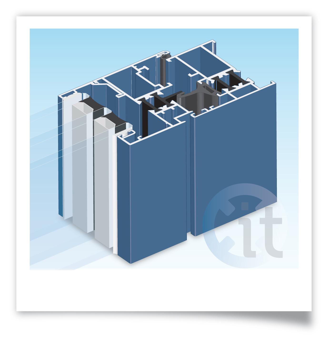 Practicable 52 con rotura del puente t rmico talleres usieto - Aluminio con rotura de puente termico ...