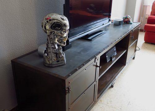Mueble De Televisi N De Hierro Estilo Industrial